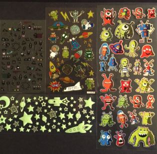 alien stickers snipped