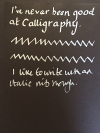 White Calligraphy writing for web
