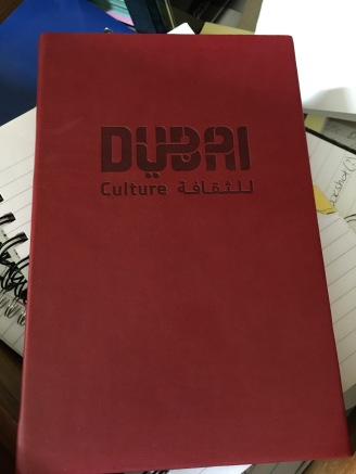 Dubai notebook closed