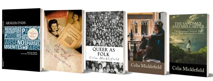 Celia's Books Standing Up