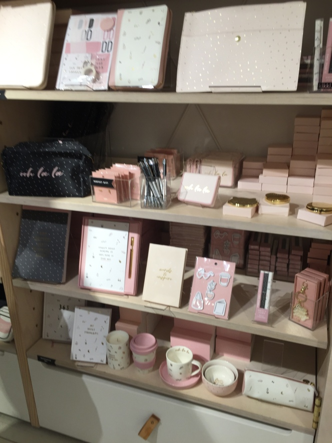 Kikki K shelf in Covent Garden