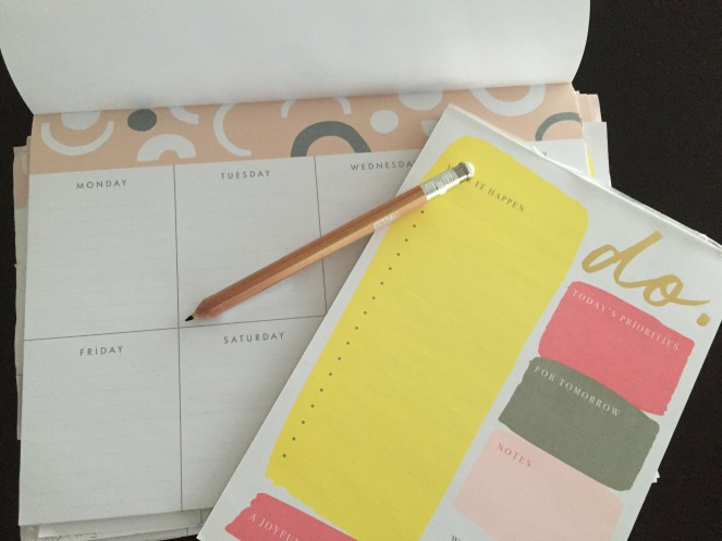 Sara Grant fave to do lists and pencil from Kikki K