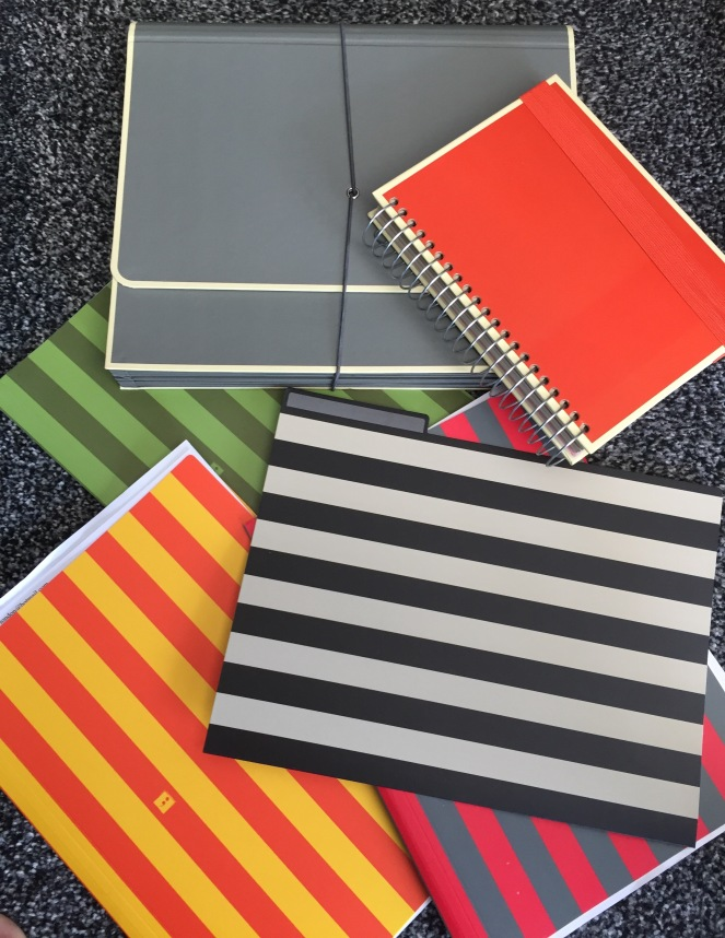 Sara Grant folders and notebook