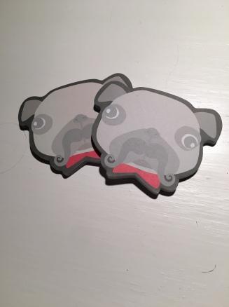 Pug sticky notes